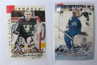 1995-96 BaP Signature Series S69 Shtalenkov Mikhail  autograph  ducks #2