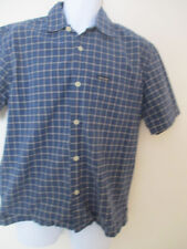 Abercrombie And Fitch Men's Short Sleeve Button Down Cotton Blue Checked Shirt S