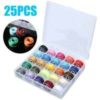 25PCS Sewing Machine Bobbins Thread Spools With Threads Set for Sewing Machine