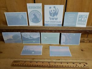 World Wildlife National Wildlife & Nature Conservancy Sticker Mixed Lot of 10