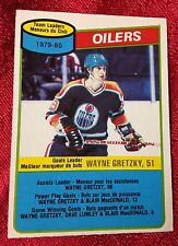 1980-81 O-PEE-CHEE #182 Wayne Gretzky Edmonton Oilers Checklist ~ NM