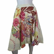 Anthropologie Odille Skirt Womens Size 0 Spring Flare Floral Cotton Circle Swing