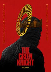THE GREEN KNIGHT 2021 Dev Patel, Alicia Vikande – Movie Cinema Poster Art Print