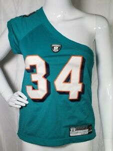 Reebok Womens Miami Dolphins Ricky Williams #34 Jersey Off Shoulder Size Small