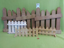 Wooden unfinished craft fences-6 piece lot-unused