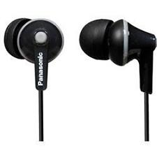 Panasonic RP-HJE125 Stereo In Ear Canal Bud Ergofit Headphones 3 Sizes Black New