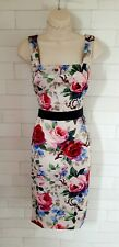 Dolce & Gabbana Vintage Painted Flower Pencil Wiggle Bodycon Dress 12