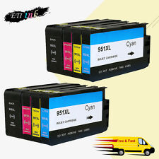 950XL 951XL Ink Cartridge For HP OfficeJet Pro 8100 8600 8610 8615 w/Chip 2 SET