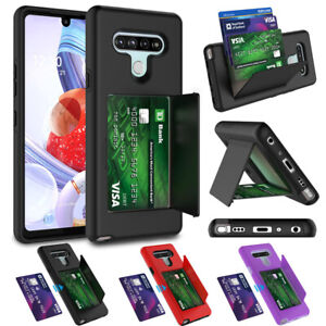 For LG Stylo 6 Defender Wallet Case Phone Stand Cover W/ Card Holder Kickstand