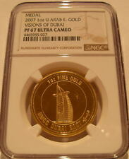 United Arab Emirates 2007 Gold Medal 1 oz NGC PF-67UC Visions of Dubai
