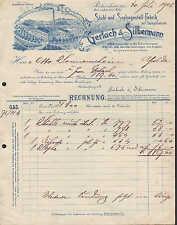 RICHZENHAIN, Rechnung 1903, Stuhl- u. Sofagestell-Fabrik Gerlach & Silbermann
