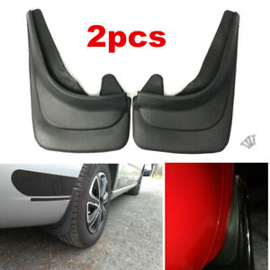 2pcs Car Accessories Black ABS Fender Molded Splash Guards Mud Flaps Front Rear