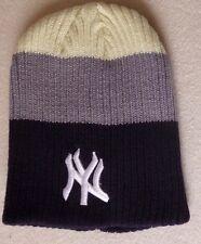 NY New York Yankees -Strickmütze Beanie Hat Cap Mütze Wintermütze -schwarz beige