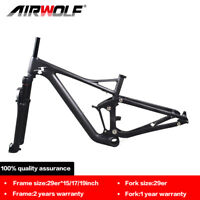 29er carbon suspension mtb frame mountain bike enduro frameset aluminium fork