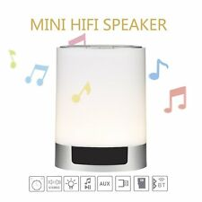 4 In 1 Wireless Bluetooth Speaker Touch Sensor Lamp Light Alarm Clock TF SD Card