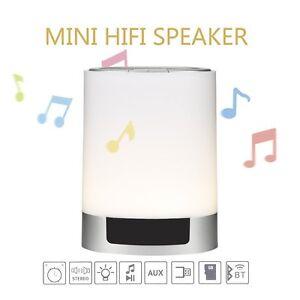 Beats Keynice LED Bluetooth Speaker Bedside Table Lamp Touch Sensor Dimmable