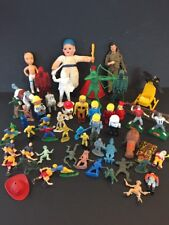 Vintage Mixed Action Figure Toy Lot~ Marx~Cake Toppers~NFL~Tin Toy