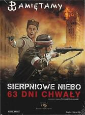 SIERPNIOWE NIEBO - 63 DNI CHWALY, Polish DVD, Polski film, New and Sealed