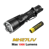 NiteCore MH27UV Cree XP-LHI V3 LED USB Rechargeable UV Flashlight Torch+Battery