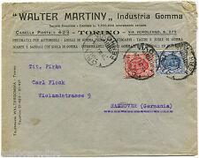 REGNO, WALTER MARTINY INDUSTRIA GOMMA, TORINO, '20, C75 + L1,25 FLOREALI       m