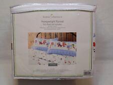 NEW Full Size Sheet Set Home Classics 100%Cotton Heavyweight Flannel Snowman NIP