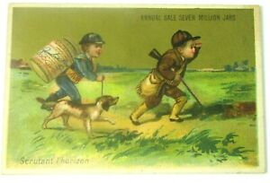 1885 Liebig Company's Extract of Meat Trade Card Scanning the Horizon Hunter Dog