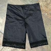 0421 GANZ Bodyslimmer XL Black Lace Trim Shaping Shorts w Panty NWOT #108 B