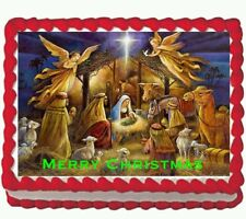 Nativity Christmas Jesus Icing Edible Cake Image Topper 1/4 sheet