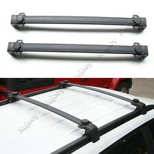 Pair Black Top Alloy Roof Rack Cross Bars Luggage Holder For Jeep Compass 2017+