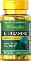 l-théanine 200 mgr. 30 cap. Stimulant cérébral, l-theanine