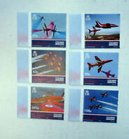 2014 ISLE OF MAN RED ARROWS STUNT PLANES SET 6 MINT STAMPS MNH