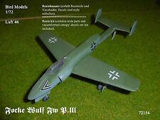 Focke Wulf Fw P. III Jäger    1/72 Bird Models Resinbausatz / resin kit