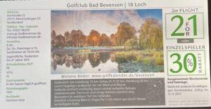 Greenfee Gutschein 2 für 1 Golfclub Bad Bevensen 18 Loch, Gültig bis 31.12.2021