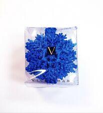 Vickerman Pack of 24 Blue Glitter Snowflake Hanging Christmas Tree Ornaments