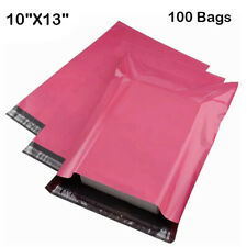 100 Bag 10x13 Pink Poly Mailers Shipping Envelopes Plastic Boutique Mailing Bags