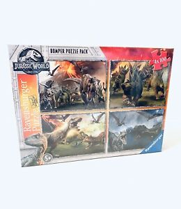 Ravensburger Jurassic World Dinosaur Jigsaw Puzzle Bumper Pack 4x 100 Pieces New