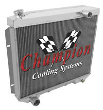 Champion Racing 3 Row Aluminum Radiator For 1957 - 59 Ford Fairlane/Ranchero