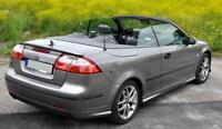 Saab 9-3 REAR boot trunk SPOILER back door addon Cabrio Coupe Tailgate Lip Wing
