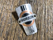 Vintage Antique Bike Bicycle Iverson Head Badge Crest Emblem Sign Headbadge 38