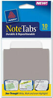 """Avery NoteTabs Durable Repositionable Thick See Through Tabs 3"""" x 3.5"""" 10pk"""