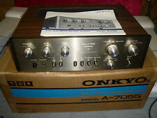 Vintage NOS Onkyo A-7055 Stereo Pre Main Power Amplifier MINT!