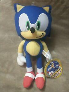 "SONIC the Hedgehog Plush Doll Stuffed Animal Toy 12"" Authentic SEGA NWT"
