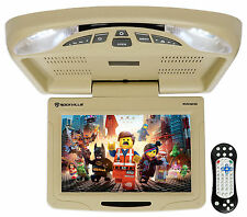 "Rockville RVD12HD-BG 12"" Beige Flip Down Car Monitor DVD/USB/SD Player + Games"