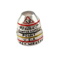 Sterling Silver Reller Enamel Southernmost Point Buoy Key West Bead 20668E