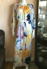 NWT Tucker The Classic Maxi Dress in Watercolor Dream Silk Cotton Size Large