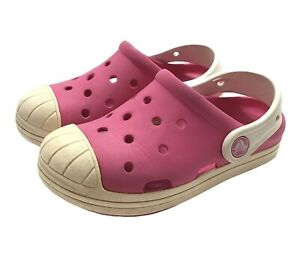 Crocs Bump It Toddler Girl Size 11/12 Pink Sandals