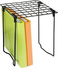 Tall Legs Wire Grid Black Vinyl Coated Steel Shelf Freestanding Stacking Rack