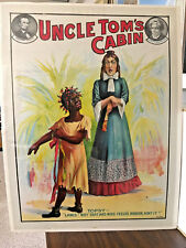 "UNCLE TOM'S CABIN poster  ORIGINAL 1880 - 1910  Excellent ""Topsy"" rare"