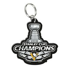 PITTSBURGH PENGUINS 2016 STANLEY CUP CHAMPIONS PREMIUM ACRYLIC KEY RING NEW