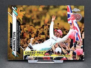 Topps Chrome F1 Lewis Hamilton Mercedes AMG Card Formula 1 One #142 Gold 70th